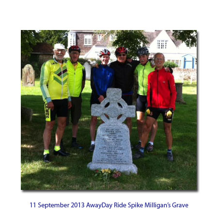 September ride to Spike Miligans grave